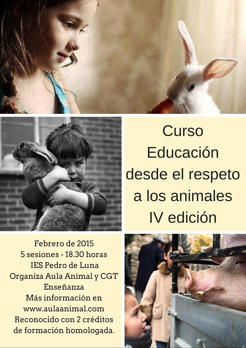 Curso Educación desde el respeto a los animalesIV edición (1)